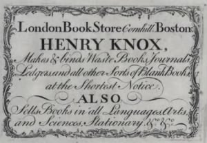 Henry Knox's London Bookstore, Boston, 1771.png