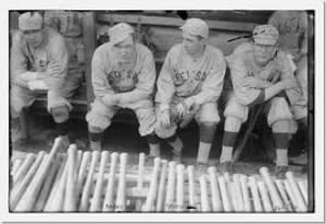 Babe Ruth, Bill Carrigan, Jack Barry, & Vean Gregg, Boston AL (baseball).jpg