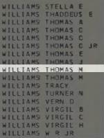 Williams, Thomas M