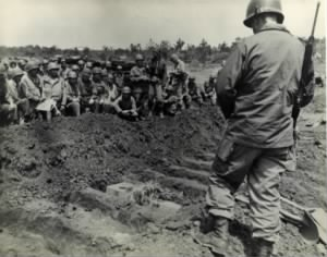 Funeral for Ernie Pyle on Okinawa, 1945.jpg