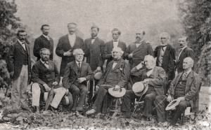 Wise (top row, second from right) with Robert E. Lee and Confederate officers, 1869..jpg