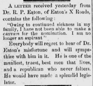 R P Eaton 1888 Withdraws Candidacy.JPG