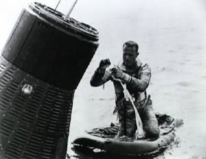 Carpenter in a water egress training exercise before his Mercury-Atlas 7 mission.jpg