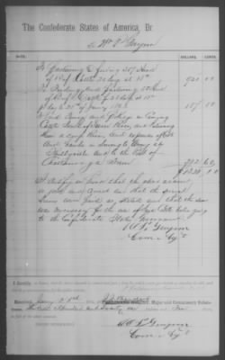 Commissary Bill of Purchase for W P Guynn