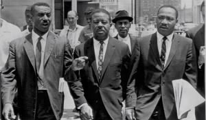 Fred L. Shuttlesworth, left, with Ralph Abernathy and Dr. Martin Luther King in 1963..jpg