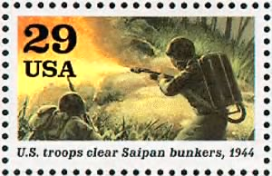 Soldier firing flamethrower Guam Saipan.gif