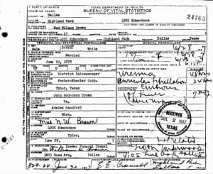 Nod Wilson Brown 1947 TX Death Cert.jpg