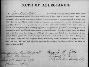 Frank A Little Oath of Allegiance.jpg