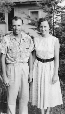 Nellie Ann Huebner with ralph 1955.jpg
