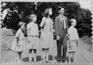 L-R- Lucia Huffman Johnson, Josefa Hermine Johnson, Rebekah Luruth Johnson, Lyndon Baines Johnson, Sam Houston Johnson.jpg
