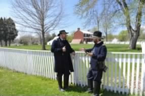 General Grant talking with an aid in front of Mclean's House.
