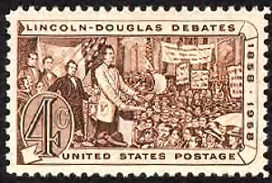 Lincoln & Douglas debating.gif