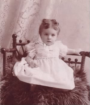 Stella as a small child