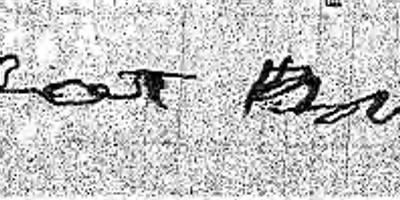 Deodat Brewster's Signature