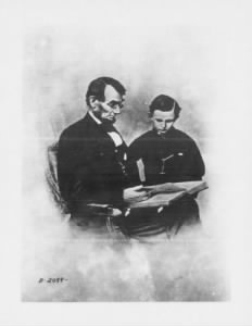 Abraham Lincoln and his son, Tad