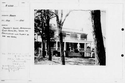 Mathew B Brady Collection of Civil War Photographs › B-6333 McLean's House, Appomattox Court House, - Fold3.com