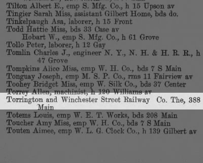 Torrington and Winchester Street Railway Company