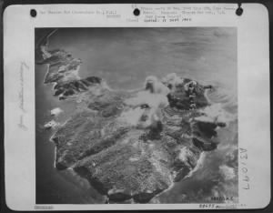 Fold3 Image - Corregidor, guardian of the entrance to the harbor at Manila, is bombed by the Consolidated B-24 Liberators of the 7th AAF.