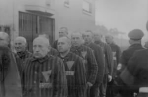 Prisoners in the concentration camp at Sachsenhausen Germany 19 Dec 1938.jpg