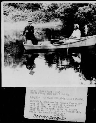 Calvin Coolidge fishing › Page 2 - Fold3.com
