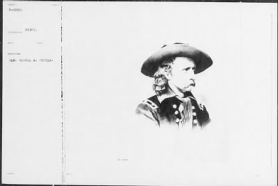 Mathew B Brady Collection of Civil War Photographs › B-1220 Gen. George A. Custer. - Fold3.com