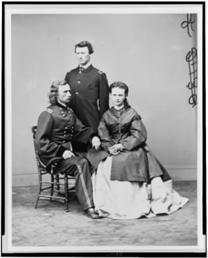 George Armstrong Custer, Thomas Custer, Georges Wife.jpg