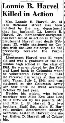 Harvel, Lonnie B._State_Columbia, SC_Sun_11 March 1945_Pg1.JPG