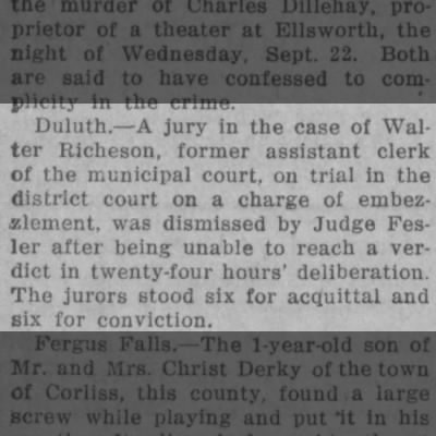 Trial of Walter J. Richeson