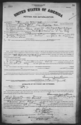 Petition for Naturalization (1914) - Page 1