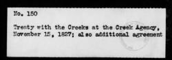 150 - Creeks at the Creek Agency, November 15, 1827; also additional agreement › Page 1 - Fold3.com