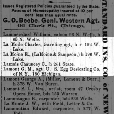 Chicago City Directory 1867