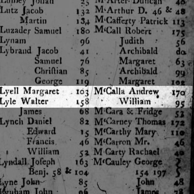 1801 McCALLA  M'Calla  pg.235 = Index of Woodward's
